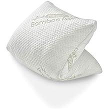 Genius Miracle Bamboo Pillow, cojín con Bolsa de Viaje, Almohada | Cervical Cojín desenfundable