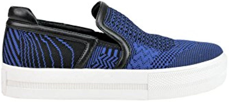 Ash Mujer MCGLCAK03023E Azul Tela Zapatillas Slip-On