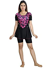 Rovars Female Swimwear with Cycling Shorts