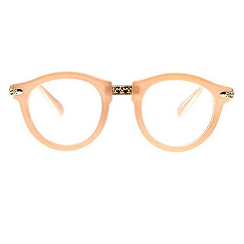 Retro Mode Runde Gläser Rahmen für Männer und Frauen-Rosa