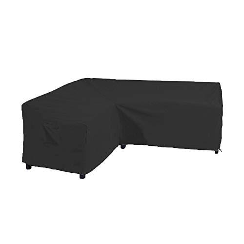 Linkool Couch-Bezüge für Terrassenmöbel, V-förmig, L-förmig, Links/rechts, wasserdicht - Outdoor Chaise Lounge-set