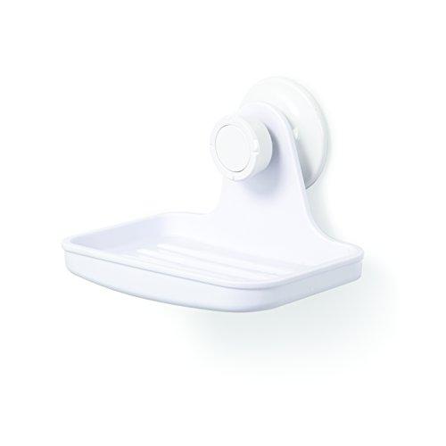 Umbra Flex Dusch Seifenhalter mit Gel-Verschluss Technologie - Seifenschale für Seifenstücke, Luffaschwämme, Baby Badeschwämme und Mehr (kein Bohren, Rostfrei) - Kunststoff-seifenschale