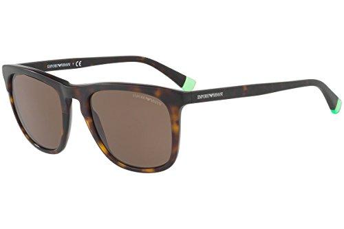 Emporio Armani Männer EA4105 Sonnenbrille w/braun Objektiv 508.973 EA 4105 Matt Havana groß