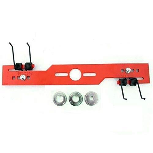 Kit scarificateur universel pour tondeuse à gazon - 40 cm -⌀ d'axe de 10,2-16,2 et 19,2 cm