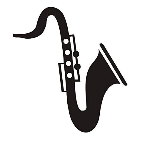 Saxophon Wandaufkleber Für KinderzimmerKopfteilDekorative Musikinstrument Vinyl Kindergarten Baby Home Decor PosterWandtattoos 40x44 cm -