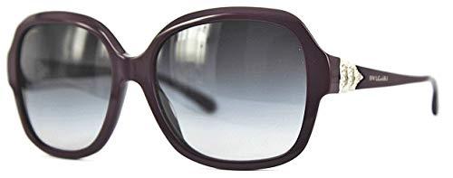 New Original Sunglasses Bvlgari BV 8135K 5018G Women Black Square Gradient