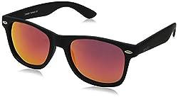 zeroUV ZV-8030e Polarized Wayfarer Sunglasses, Black, 58 mm