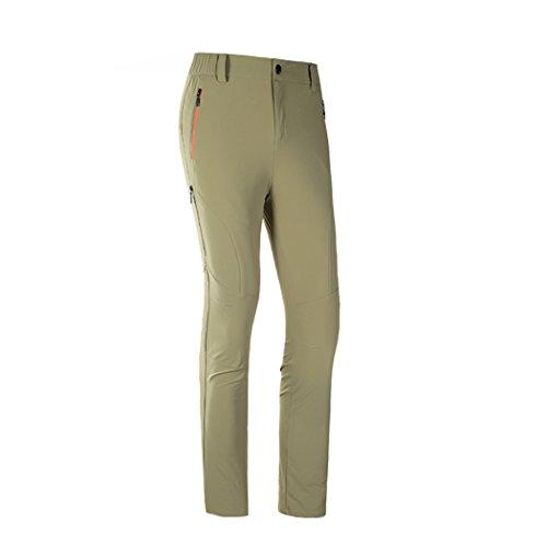 walk-leader da uomo vestibilità comoda Outdoor antivento asciugatura rapida pantaloni pantaloni da campeggio Khaki XX-Large