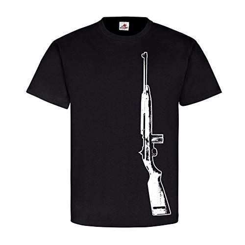 M1 Carbine Us Army U.S Marine Corps Deko Weapon Soldier T-Shirt #17865, Farbe:Schwarz, Größe:Herren XL M1-marine