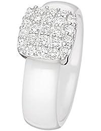 mes-bijoux–Damenring Keramik und Silber 925/1000–7bj6131wa