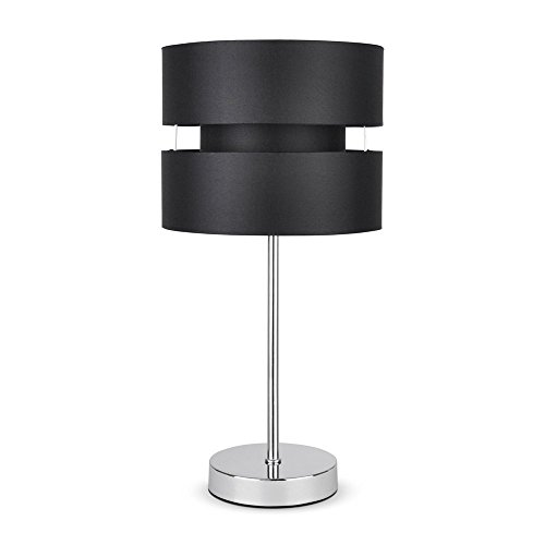 modern-silver-chrome-touch-table-lamp-with-black-shade