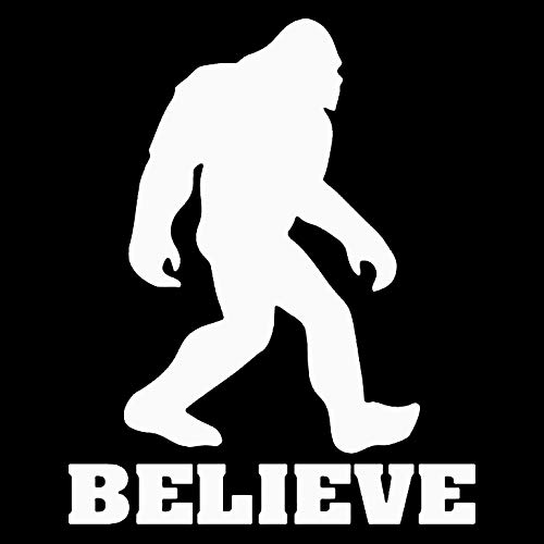 Makarios LLC Sasquatch Believe Bigfoot Cars Trucks Vans Walls Laptop MKRR655 Weiß 5,5x11,5 cm