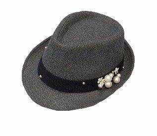 Winter Hat Knit Russian Cute Trapper Warm Cool Girl Women Gray Black Pearls