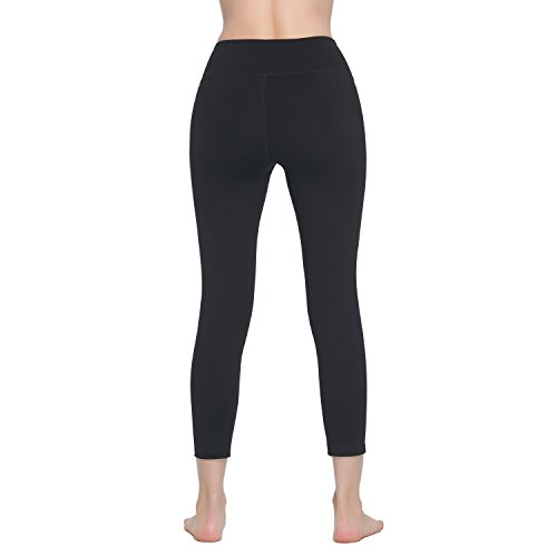 Lover-Beauty Donna Classico Elastic Sport Leggings Yoga Pants Nero
