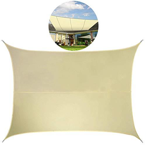 Sonnensegel Wasserdicht, Wetterfest und Robust Gegen Uv Strahlen Elfenbein Sonnencreme Markise für Garten Terrasse -