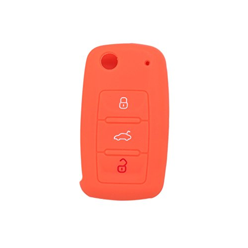 fassport-silicone-cover-skin-jacket-for-volkswagen-skoda-seat-3-button-flip-remote-key-cv2802-orange