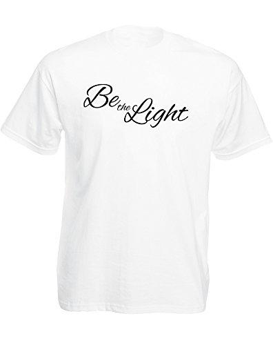 Brand88 - Brand88 - Be the Light, Mann Gedruckt T-Shirt Weiß/Schwarz