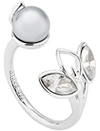 TED BAKER- NYSSA: CRYSTAL NAVETTE & PEARL RING ML SILVER/CRYSTAL SILVER SHADE/LIGHT GREY PEARL