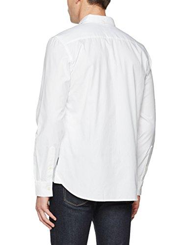 French Connection Herren Freizeithemd Summer Soft Oxford Reg Weiß (WHITE 10)