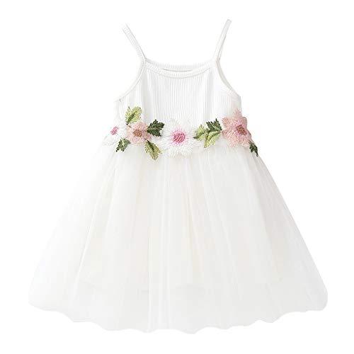 Amphia Mädchenkleid - Kinder Baby Girl Floral Princess Party Strap Tüll Kleider Freizeitkleidung