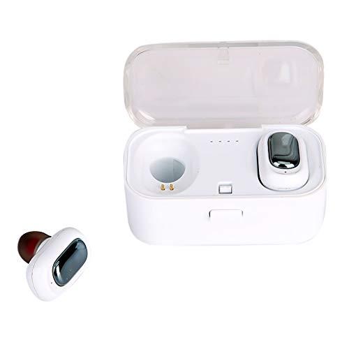 HSKB TWS-L1 Echter HiFi Wireless Bluetooth 5.0-Kopfhörer Sport Ohrhörer Twins Ear Stereo (Weiß) -
