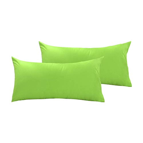 ZCHXD Pillow Cases Covers Pillowcases Protectors King Size Housewife Egyptian Cotton 250 Thread Count Set of 2, Green -
