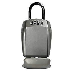 MASTER LOCK Schlüsseltresor mit Bügelhalterung [Large] [Wetterfest] [Bügel] - 5414EURD - Schlüsselsafe