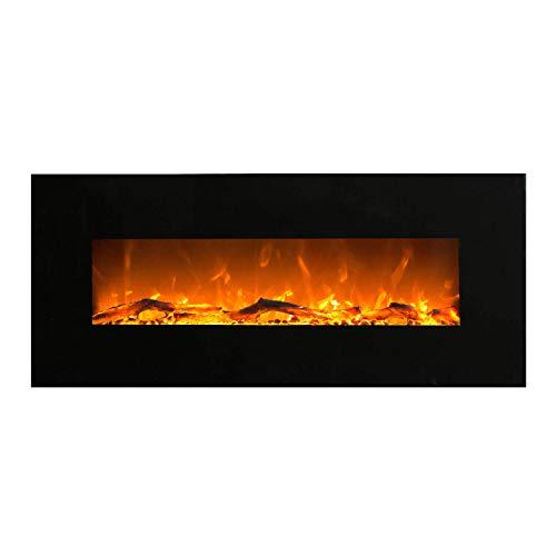 Glow Fire - Chimenea eléctrica de pared con tecnología LED, 230.00V