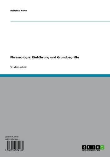 Phraseologie: Einführung und Grundbegriffe