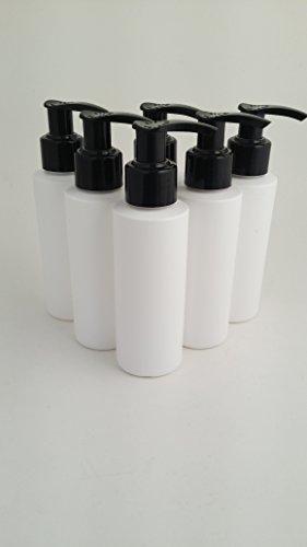 5x 100ml Stück weiß HDPE leer Kunststoff Kosmetik Flasche mit Schwarz Lotion Pumpe Spender-recyclebar-von Avalon Kosmetik Verpackung