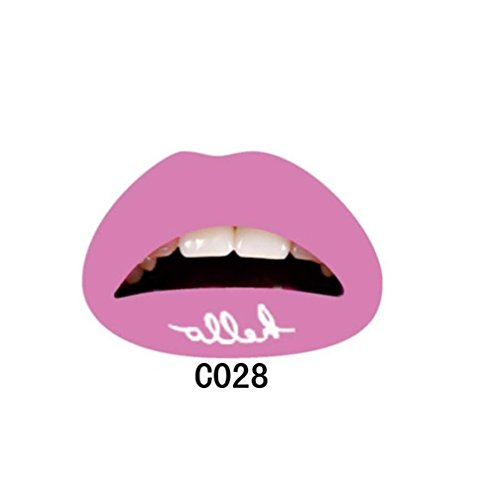 Lip Tattoo Sticker HKFV 1 STÜCK Frauen Lip Sticker Temporäre Tattoo Aufkleber Transfers Lippenstift Lippenaufkleber Sexy Aufkleber Lippenaufkleber (J) In Der Nacht Lidschatten-palette