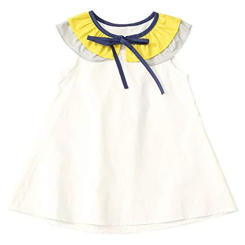 squarex  Sommer Mädchen Lace-up ärmelloses Kleid Kleinkind Prinzessin Kleider Baby Casual Rock Kinder bequemes Kleid Lace Up Smoking