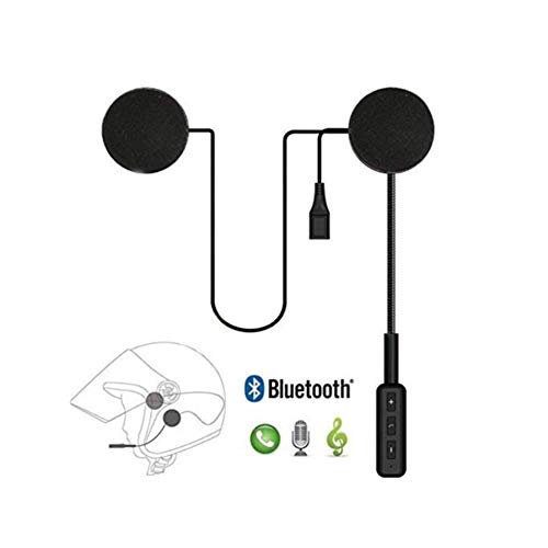 Litake Universal Motorcycle Helmet Headset, Bluetooth Dual Stereo Speakers Hands-Free Music Call Control Mic Earphone Durable