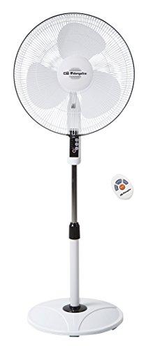 Orbegozo SF 0243 – Ventilador de pie, oscilante, potencia 48 W, 3 velocidades, diámetro de hélice 40 cm, asa, programable, 3 modos de funcionamiento, mando a distancia