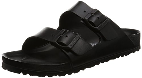 Birkenstock arizona eva, zoccoli unisex – adulto, nero (black), 37 eu
