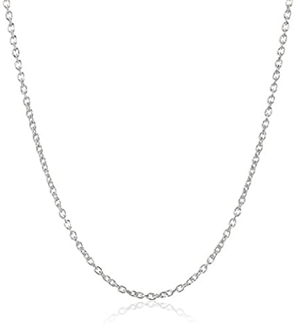 BODYA silver plated Italian 1.2mm rolo cable round marine chain necklace 18