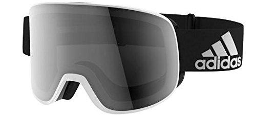 adidas PROGRESSOR C AD81 Matte White Black/Black Mirror (ANTIFOG) Unisex Skibrillen