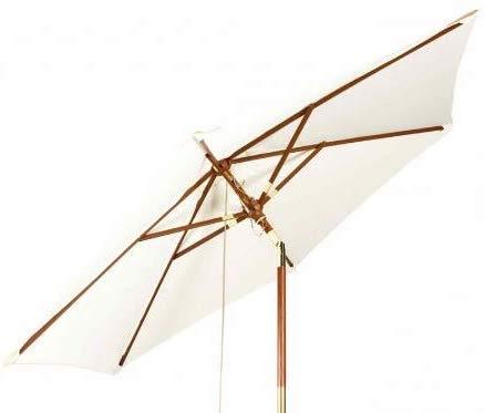 Kai Wiechmann Sonnenschirm Sunshine ø 240 cm Natur-weiß UV-Schutz 50+ ✓ kippbar ✓ mit Windauslass ✓