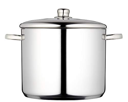 Picture of MasterClass Induction-Safe Stainless Steel Stock Pot with Lid, 7 Litres