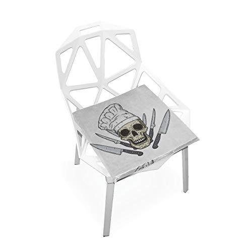 del Toque Messer Benutzerdefinierte Weiche rutschfeste Platz Memory Foam Stuhl Pads Kissen Sitz Für Home Küche Esszimmer Büro Schreibtisch Möbel Innen 16x16 Zoll ()