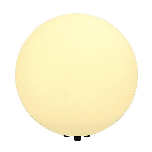 Lampe d'extérieur Roto Balle Floor 50 Lampe boule, blanc, E27, avec fiche, IP44 Classe d'efficacité énergétique : A + + – A