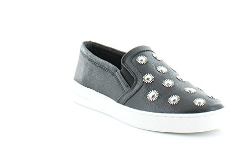 Michael Kors Michael Frauen Leo Leder Fashion Sneaker Schwarz Groesse 10 US/41.5 EU (Michael Wedge Shoes Kors)