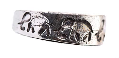 AoL - Anillo de dedo hecho a mano - Diseño de elefantes...