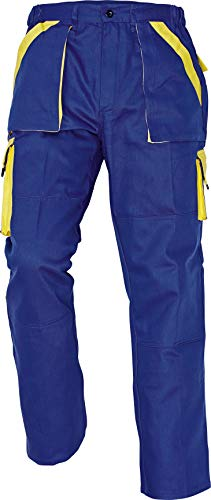 Stenso Max - Pantaloni da Lavoro in Cotone da Uomo Rosso/Nero 50