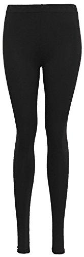 Janisramone - Legging - Leggings - Uni - Femme Noir couleur Medium Noir