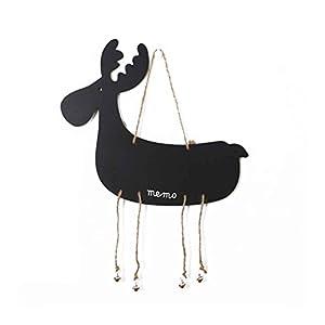 Lorjoy Accueil Décoration Hanging en Forme en Bois Mini Animaux Babillards électroniques Blackboards