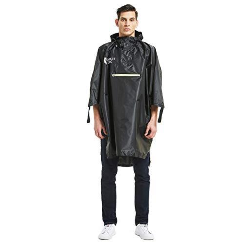 Hunpta@ Regenponch,Männer 's Camouflage Belted Hooded Military wasserdicht Bergsteigen Regenmantel,Herren Regen Jacke Übergangs Windbreaker Outdoor Regenjacke Belted Kapuze
