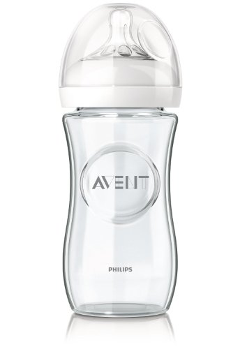 Philips Avent Naturnah-Glasflasche SCF673/17, transparent, Einzelpack, 240ml