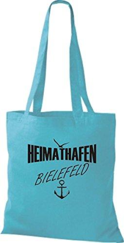 Shirtstown Stoffbeutell Heimathafen Bielefeld viele Farben Sky