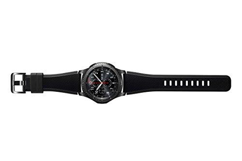 Samsung SM-R760NDAADBT Gear S3 frontier Smartwatch (3,3 cm (1,3 Zoll) Display, NFC, Bluetooth, WLAN, Tizen OS, mit Silikon-Armband)